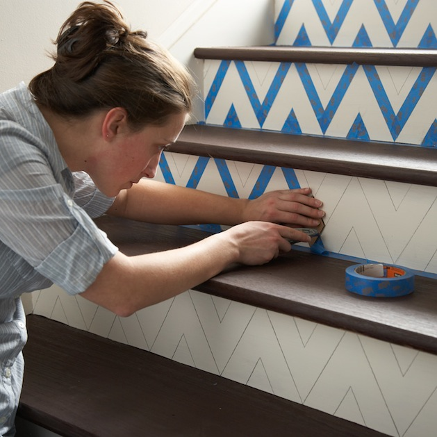 How-To: Chevron Stairs