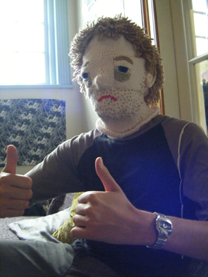 Knitted Hangover Mask
