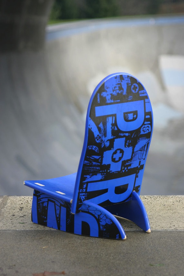 Baby Deck Chair Fashioned from Skateboard