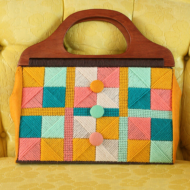 Flashback: Needlepoint Purse