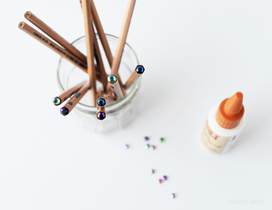 How-To: Sparkle Top Pencils