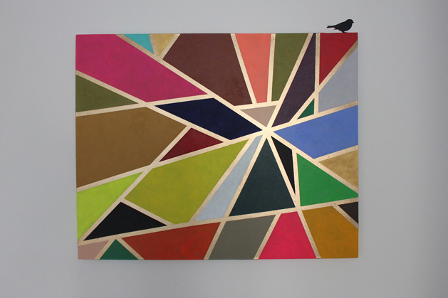 Geometric Tape Painting