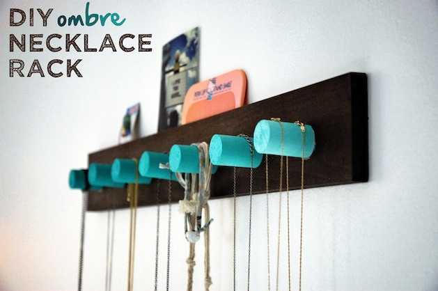 How-To: Ombre Necklace Rack