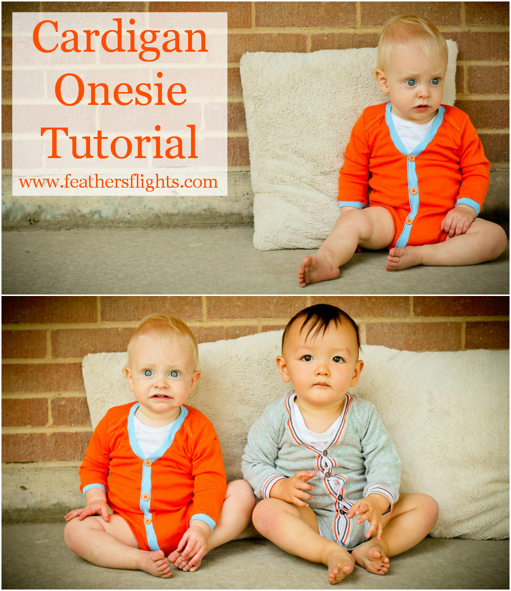How-To: Baby Cardigan Romper