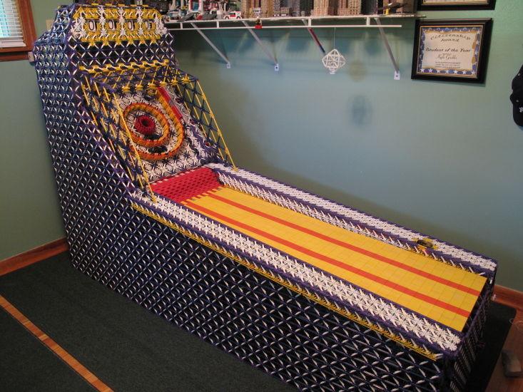 Skeeball Machine Made Entirely with K'Nex
