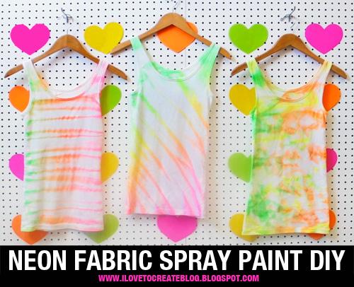How-To: Neon Fabric Spray Paint Shirt