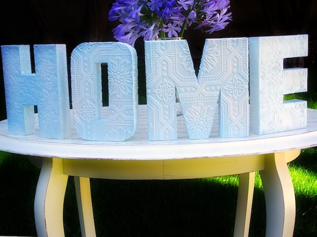 How-To: DIY Anaglypta Letters