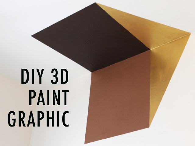 Video: DIY 3D Painted Wall Graphic