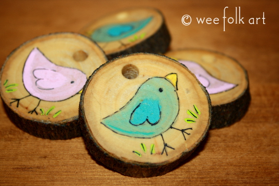 How-To: Painted Wooden BFF Pendants