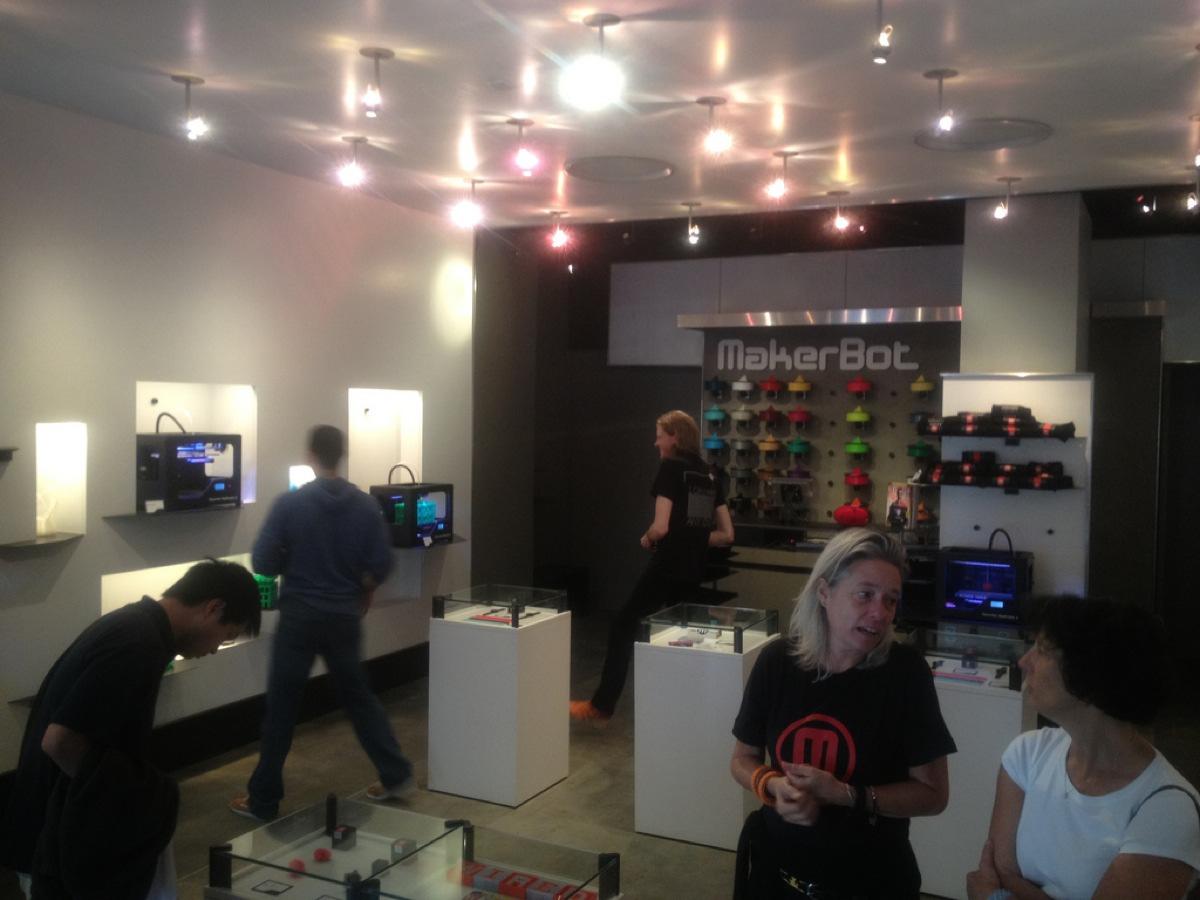 @Adafruit visits @Bre Pettis @MakerBot store in NYC (video)