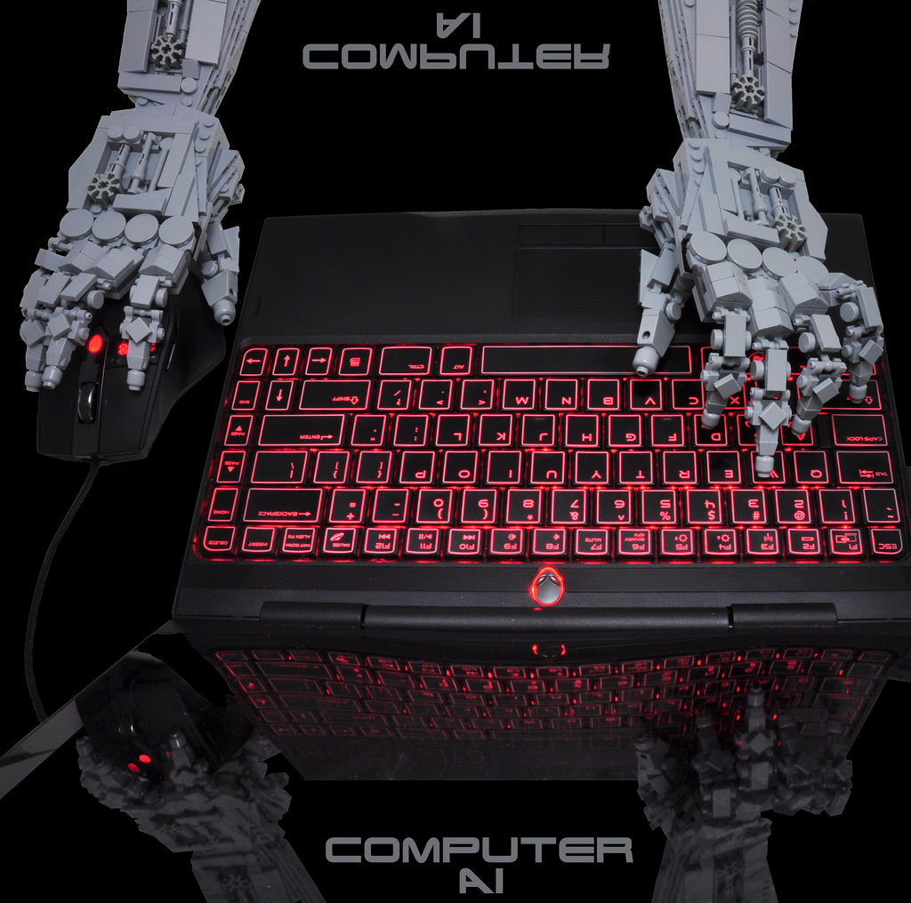 Computer AI Lego Hands