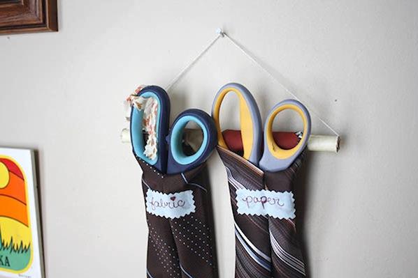 How-To: Vintage Necktie Scissors Organizer