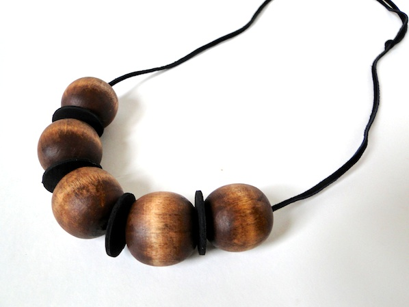 How-To: Stained Wood and Leather Necklace