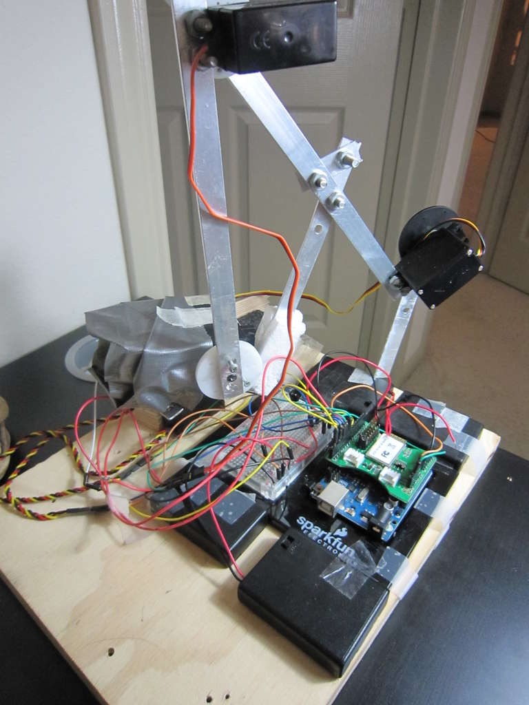 Phone-Controlled Robot Arm