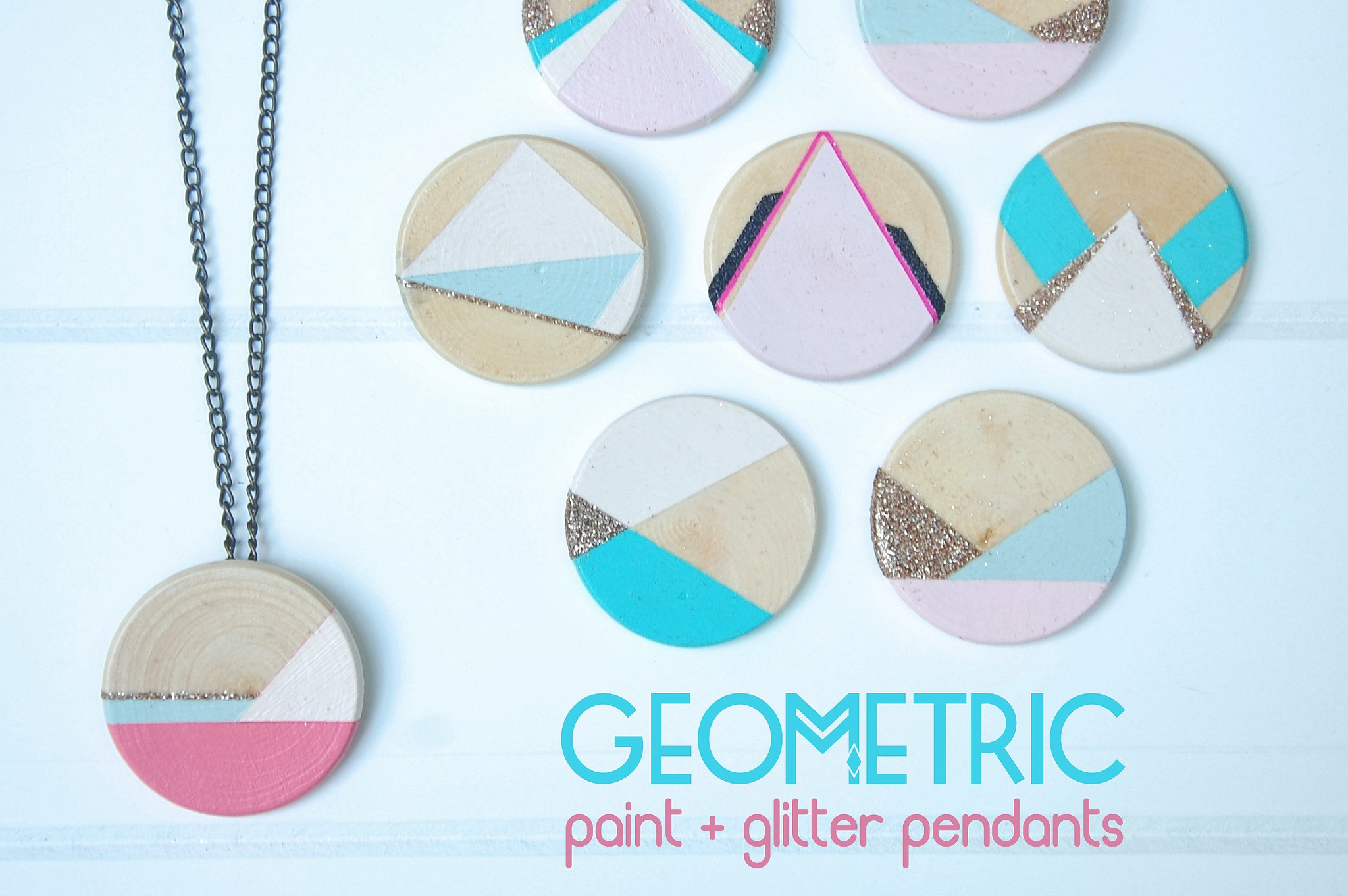 Geometric Glitter Pendant
