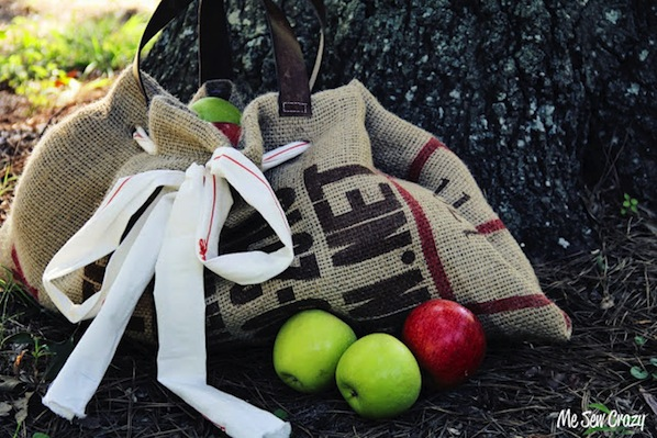 How-To: Burlap Sack Apple Picking Tote