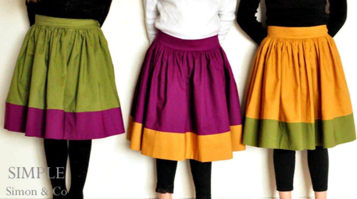 How-To: Vintage-Inspired Colorblock Circle Skirt