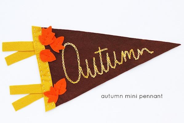 How-To: Autumn Mini Pennant