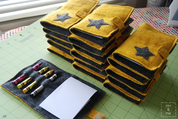 How-To: Felt Crayon Notebook Cover