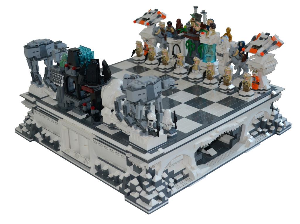 Lego Hoth Chess Set