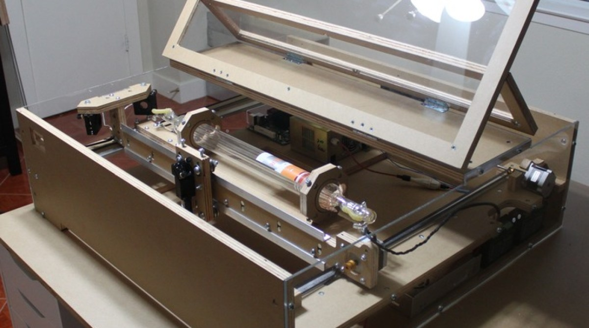 diy laser cutter kit on kickstarter | make: