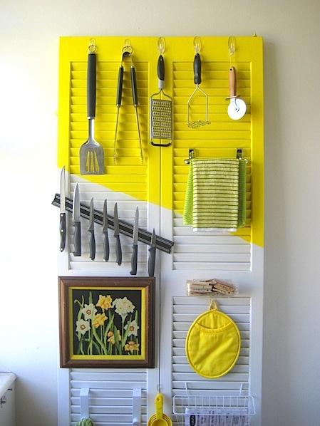 How-To: Upcycled Door Kitchen Organizer