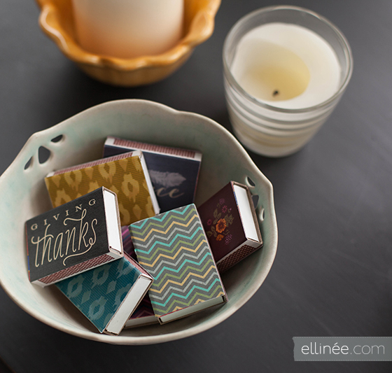 How-To: Printable Matchbook Labels