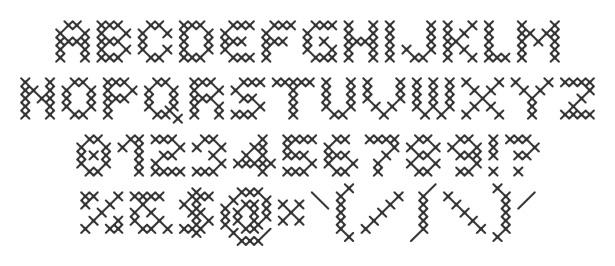 Cross-Stitch Font