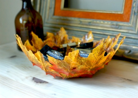 How-To: Autumn Leaf Bowls