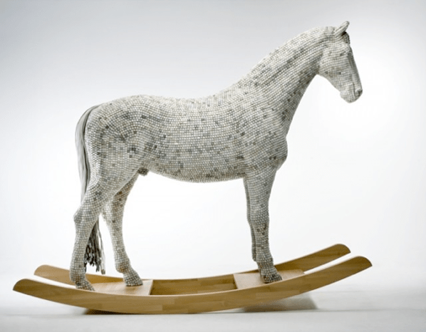 Rocking Horse Covered in Computer Keys