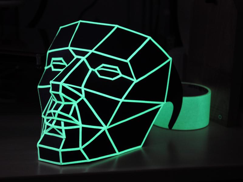 Low-Poly Papercraft Mask