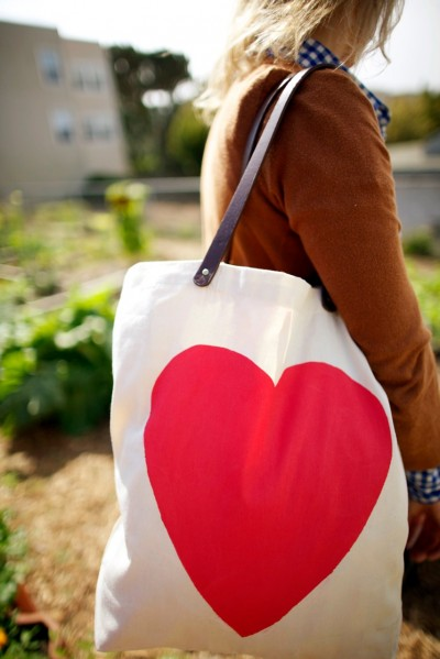 How-To: Heart Tote Bag with Leather Straps