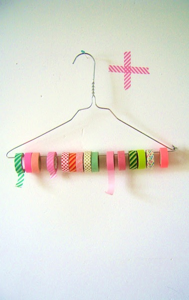 How-To: Wire Hanger Washi Tape Organizer