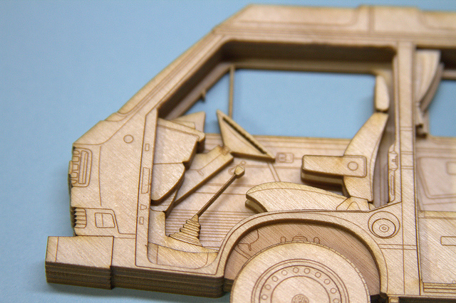 Laser-Cut VW Vanagon