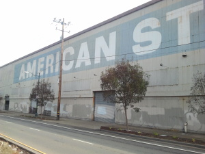 Located near the Port of Oakland, American Steel once served as a repair facility for ships. Today it's a one-of-a-kind artist community, studio space, manufacturing facility in West Oakland.