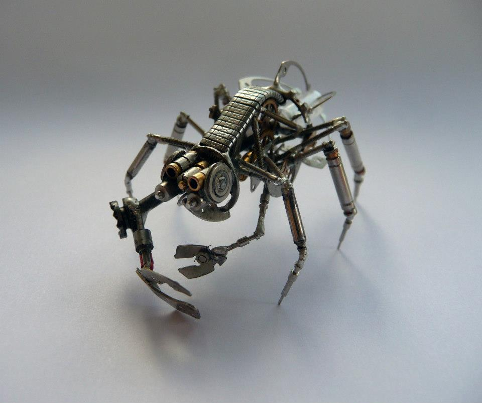 Watch Parts Made into Mechanical Creatures