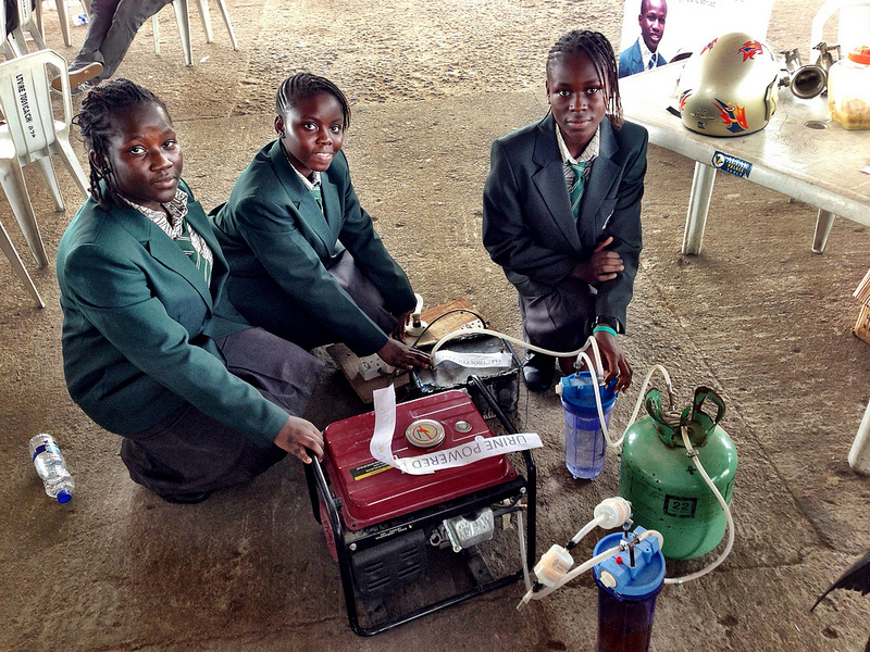A Urine Powered Generator, Ag Hacks, and Arduino at Maker Faire Africa 2012