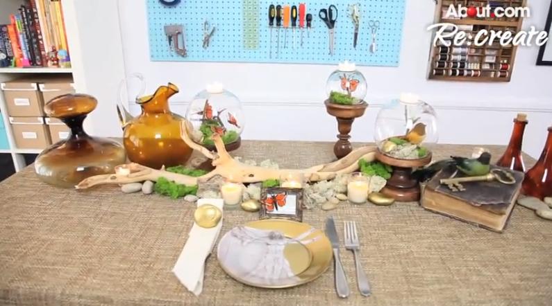 Autumnal Table Decor