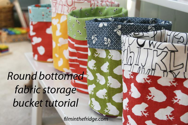Fabric Storage Bucket Tutorial