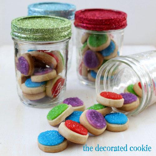 Glittered Top Cookie Jars
