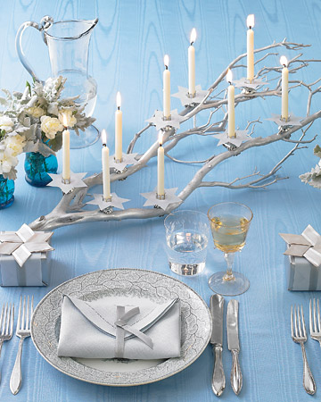 How-To: Hanukkah Candlelit Branch and Ribbon Star of David