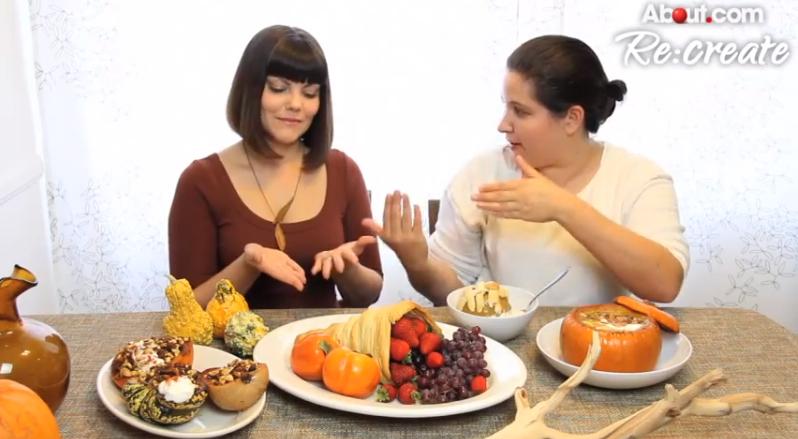 Edible Thanksgiving Table Decor