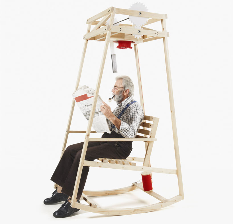 A Rocking Chair That Knits You a Beanie