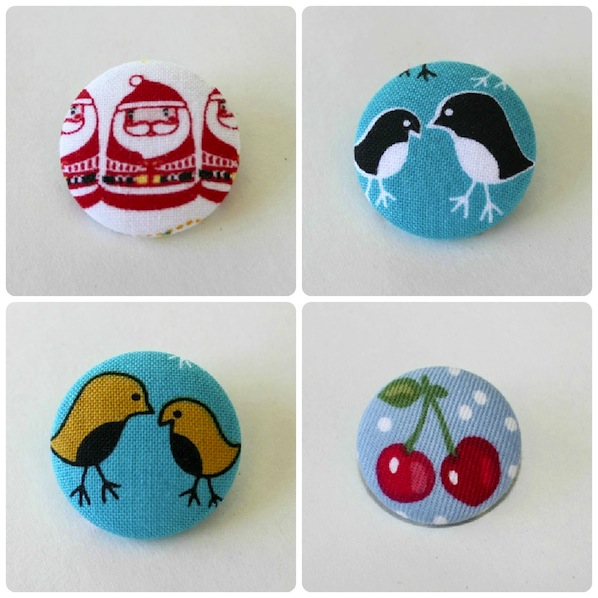 How-To: Fabric Scrap Button Brooch