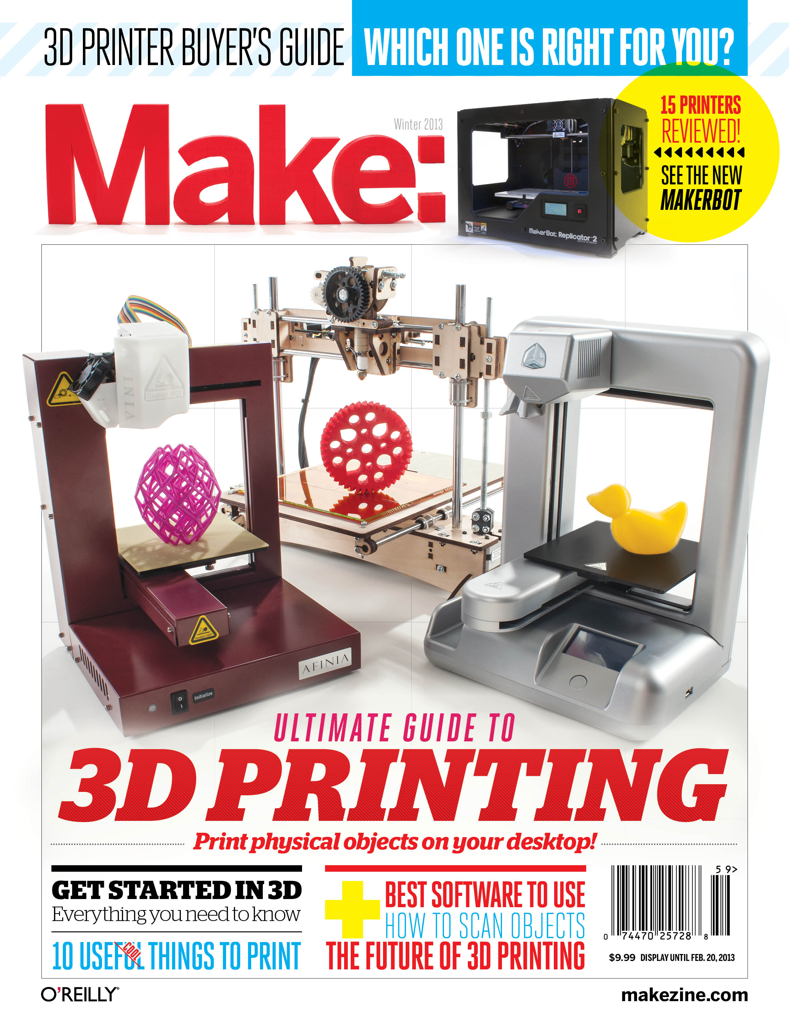 MAKE'S Ultimate Guide to 3D Printing: A Preview on Google+ Nov. 5
