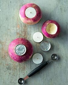 Carved Turnip Votives