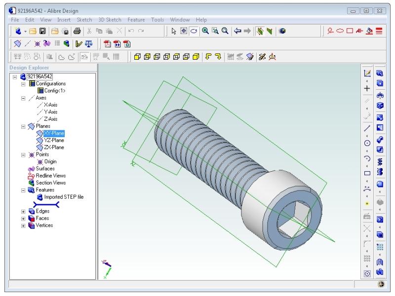 Importing Parts into Alibre   Make: