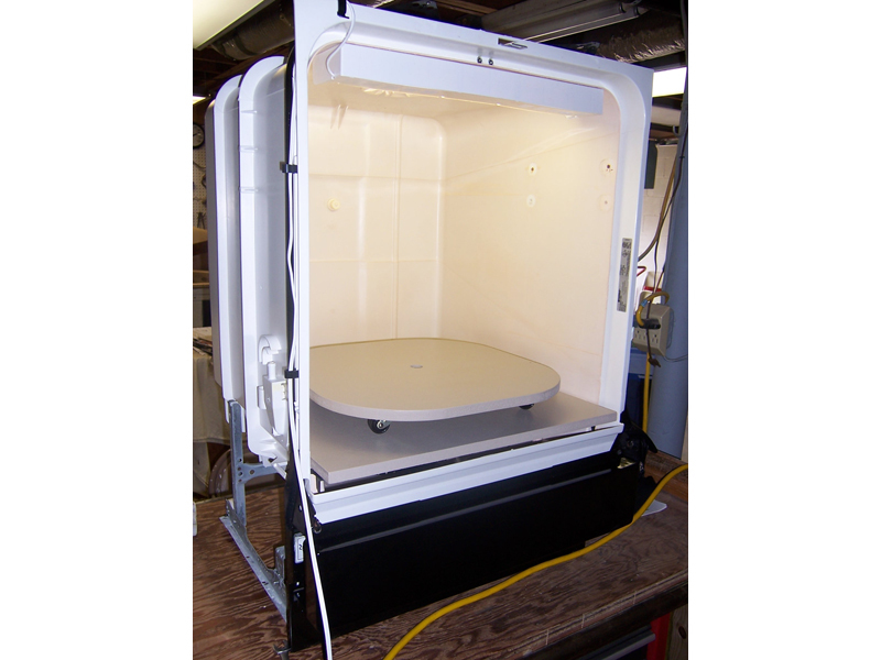 Convert a Used Dishwasher into a Spray Paint Booth