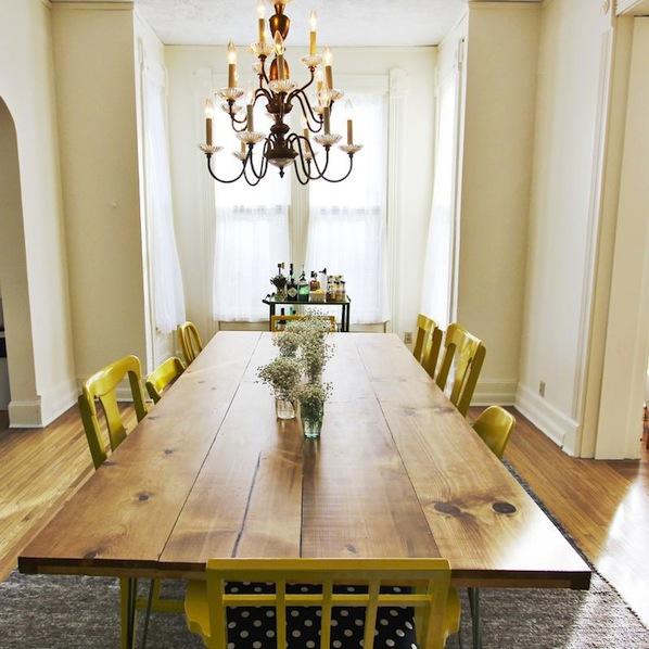 Inspiration: DIY Dining Room Table