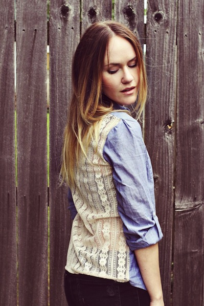 How-To: Lace-Backed Shirt